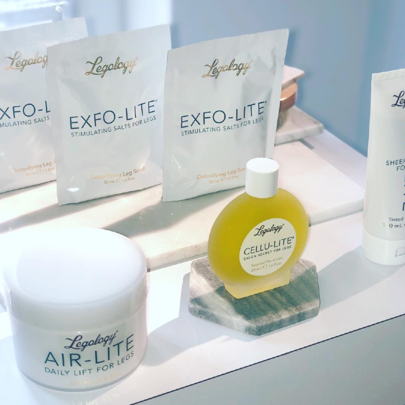 Legology products including the Air-Lite Daily Lift For Legs and Cellu-Lite Salon Secret For Legs.