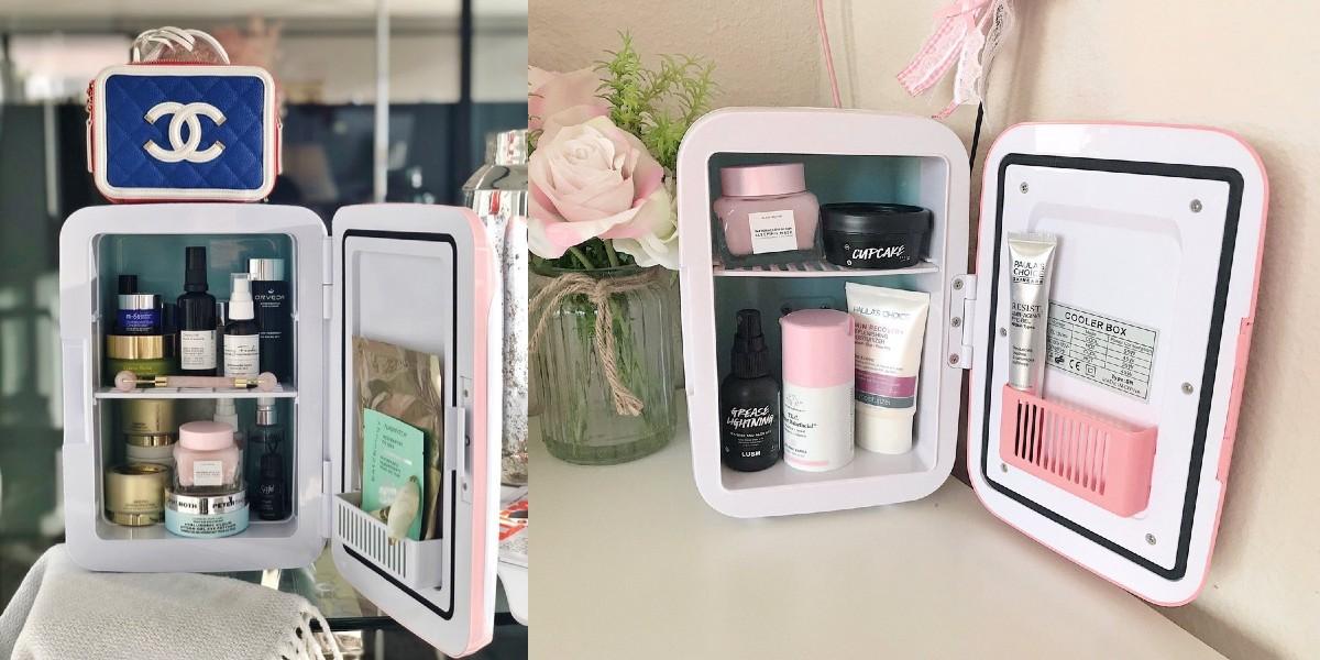 Why Everyone's Buying Beauty Fridges Image source: @heymichellelee and @Jasmine_blu