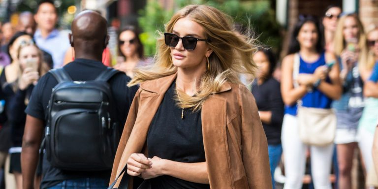 Let Rosie Huntington-Whiteley Inspire You To Buy A Beige Blazer This Summer