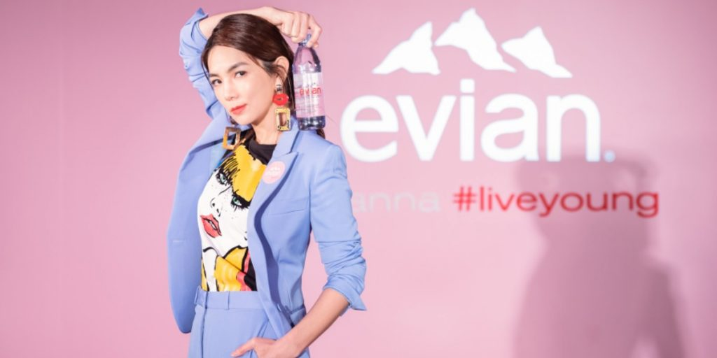 """Ella Chen has been the face of Evian for the past two years. Most recently, she renewed her contract with the brand and unveiled the brand's """"I Wanna"""" campaign. Photo courtesy of Evian"""