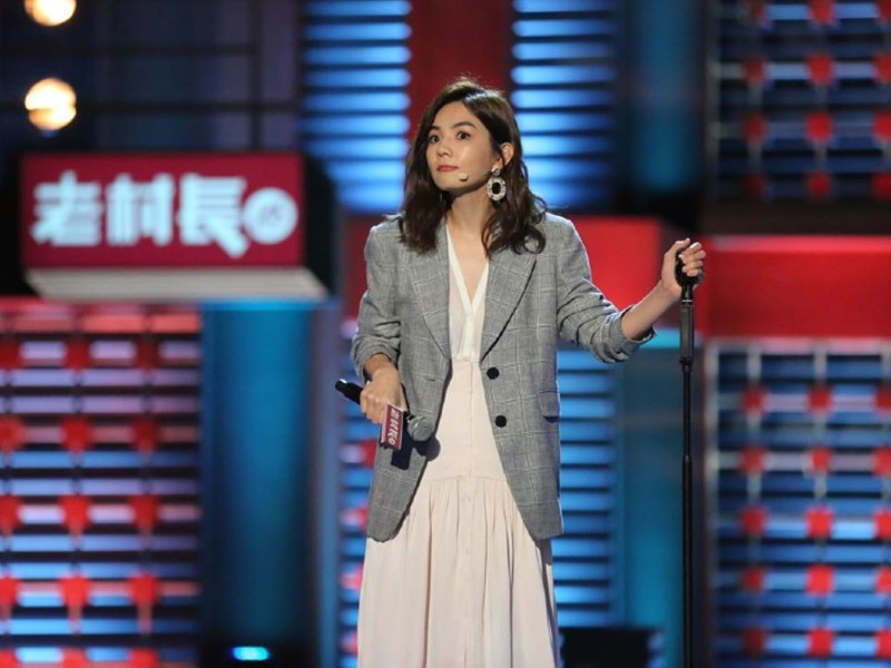 "Ella Chen in the Chinese variety show, ""Rock & Roast"". Image source: @him_ella0618"