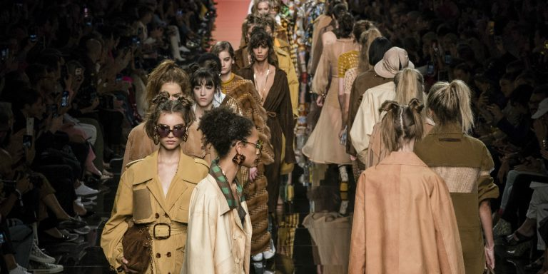 Fendi SS20 Celebrates 1970s Miami Granny Chic With Kendall Jenner, Kaia Gerber And The Hadid Sisters