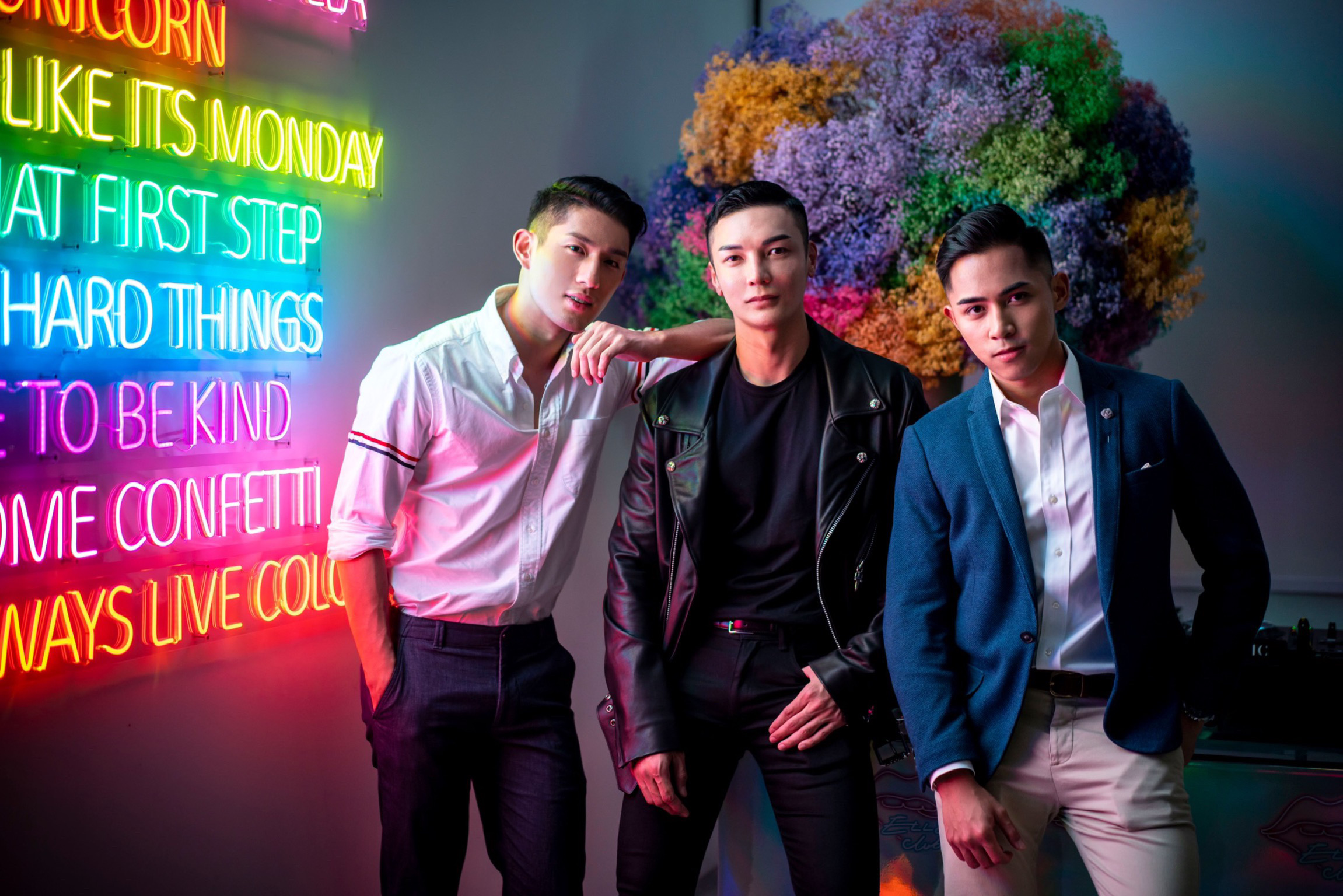 Ayden Sng, Jumius Wong and Danil Palma