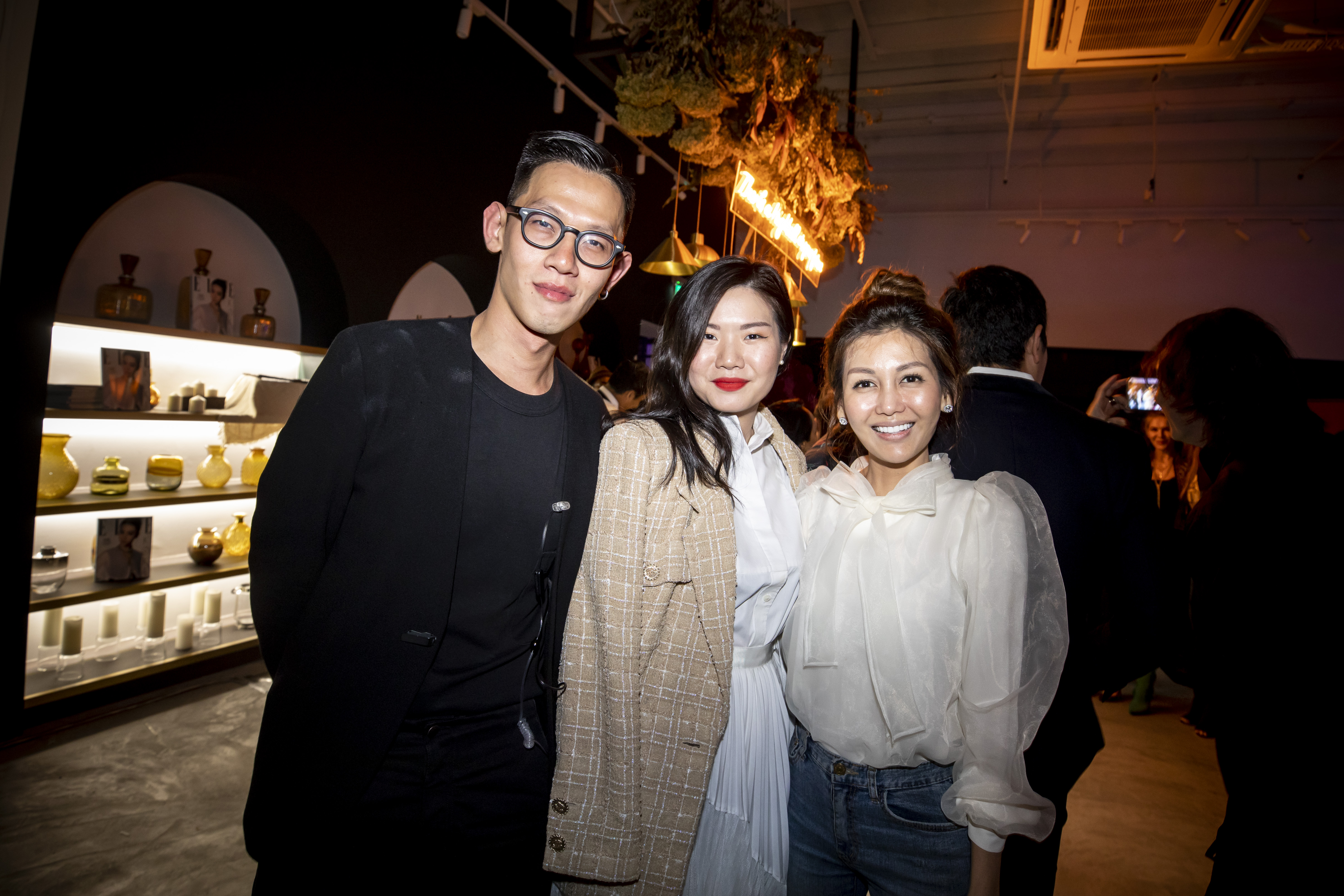 Joe Ng, Caroline Suganda and Lelian Chew