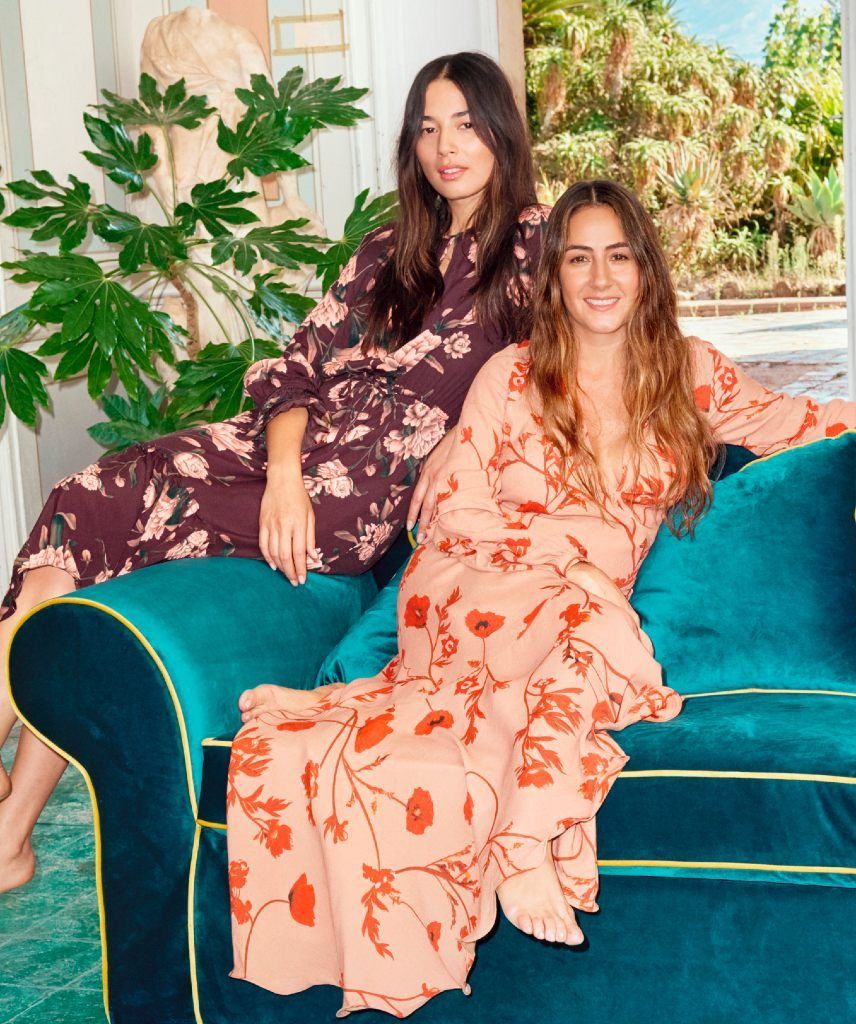 Pictured: Model Jessica Gomes (left) with designer Johanna Ortiz (right)