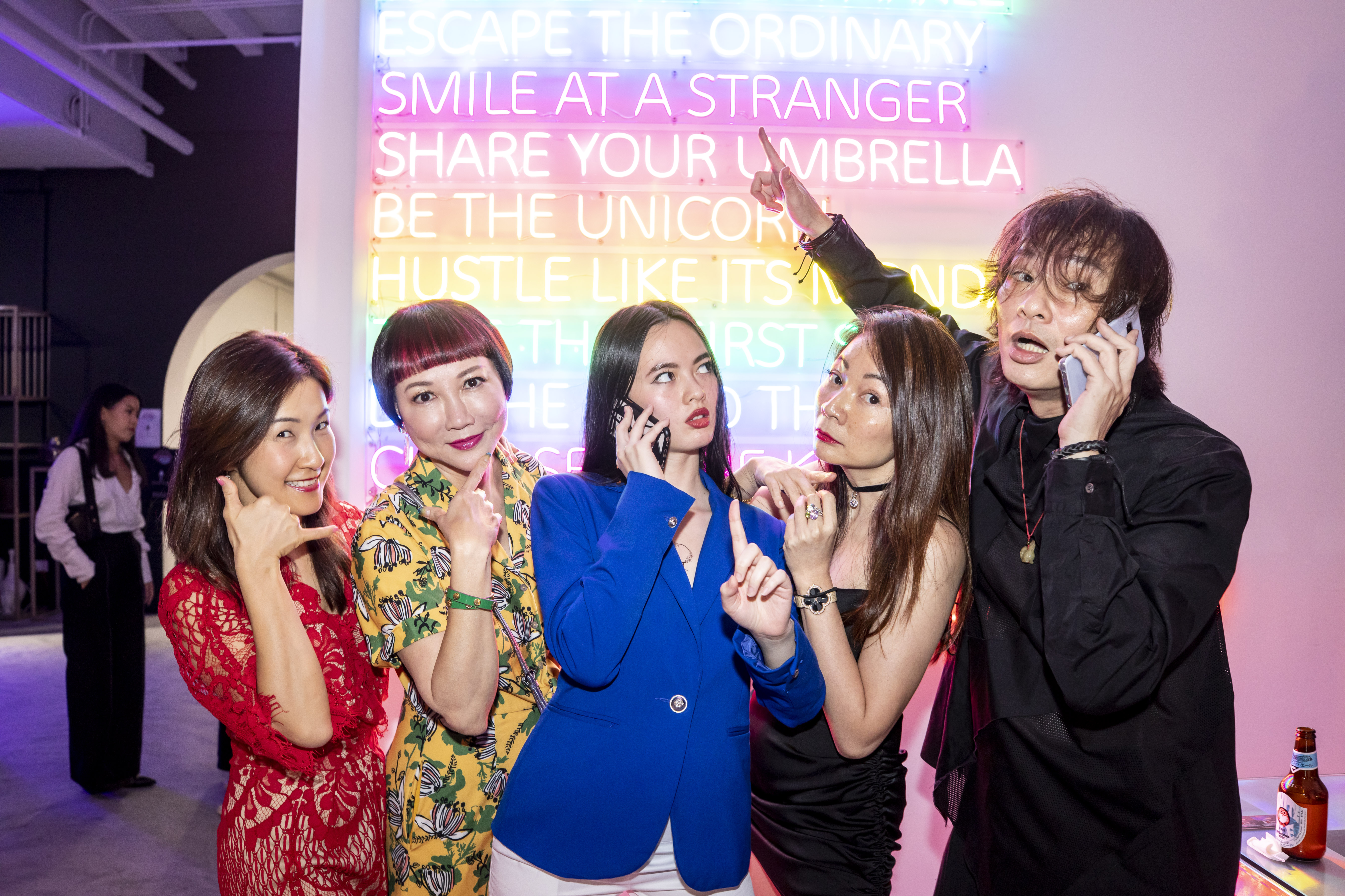 Yvonne Ng, Frances Low, Ariel Mok, Stella Mok Lee and Henry Mok