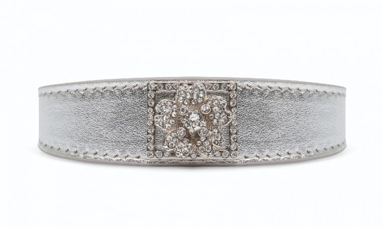 Roger Vivier Spring-Summer Collection 2020 - Bouquet strass buckle bracelet 20mm - HD CMJN
