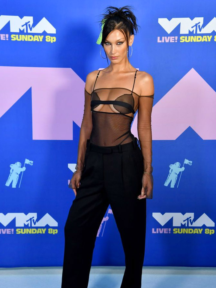 VMAs 2020 Red Carpet, Bella Hadid