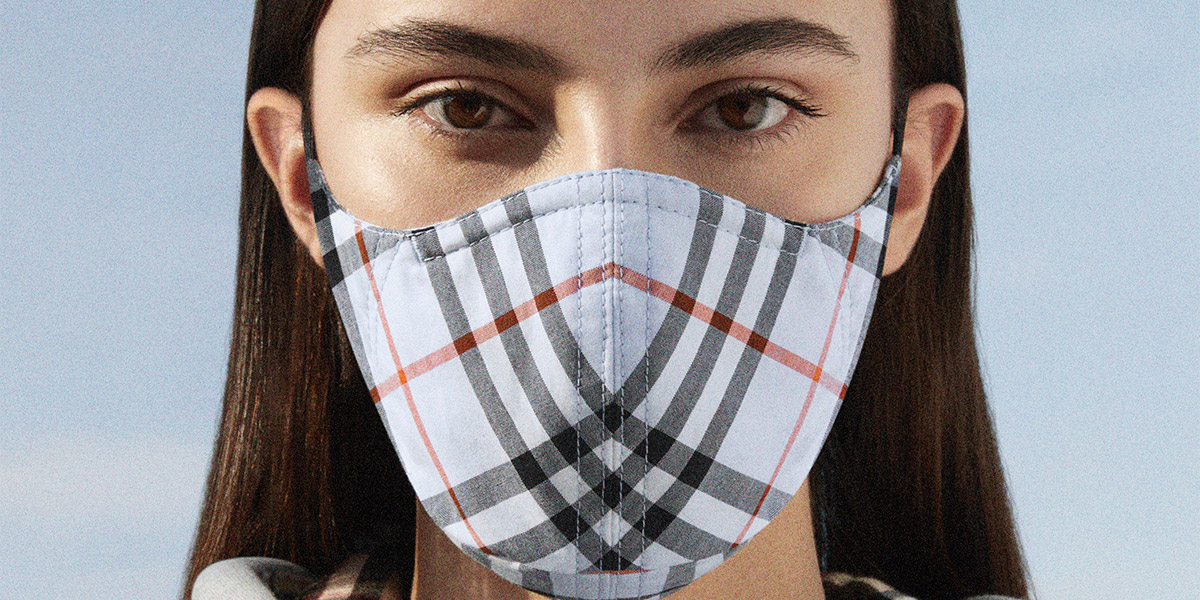burberry, face masks
