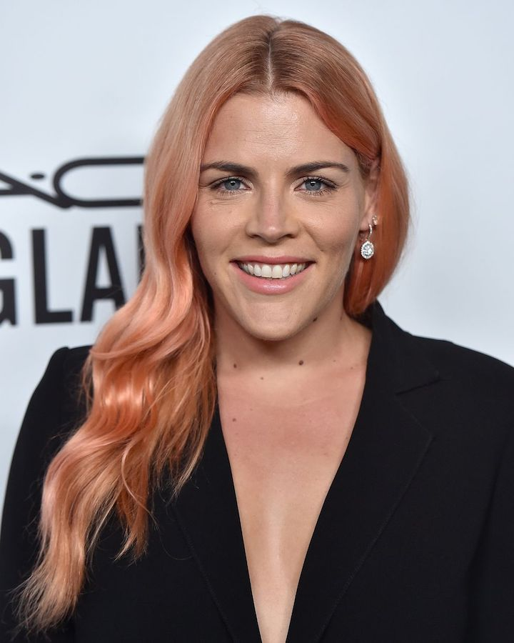 Busy Phillips Rose Gold Hair