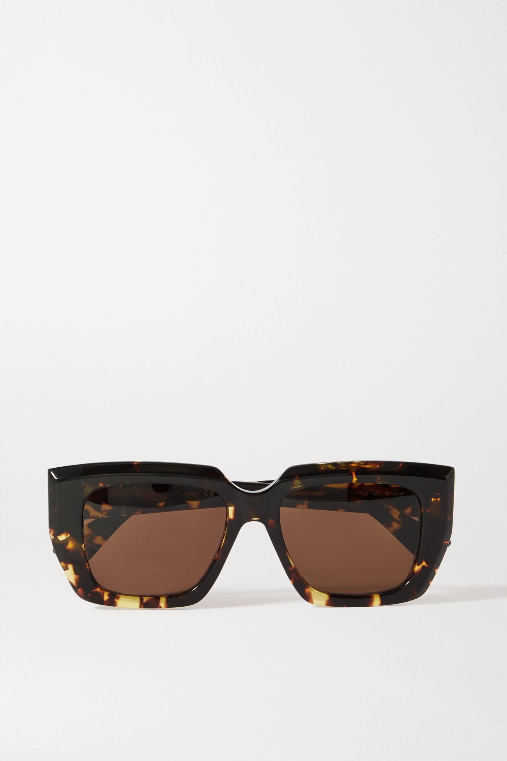 Bottega Veneta — Oversized Square-frame Tortoiseshell Sunglasses
