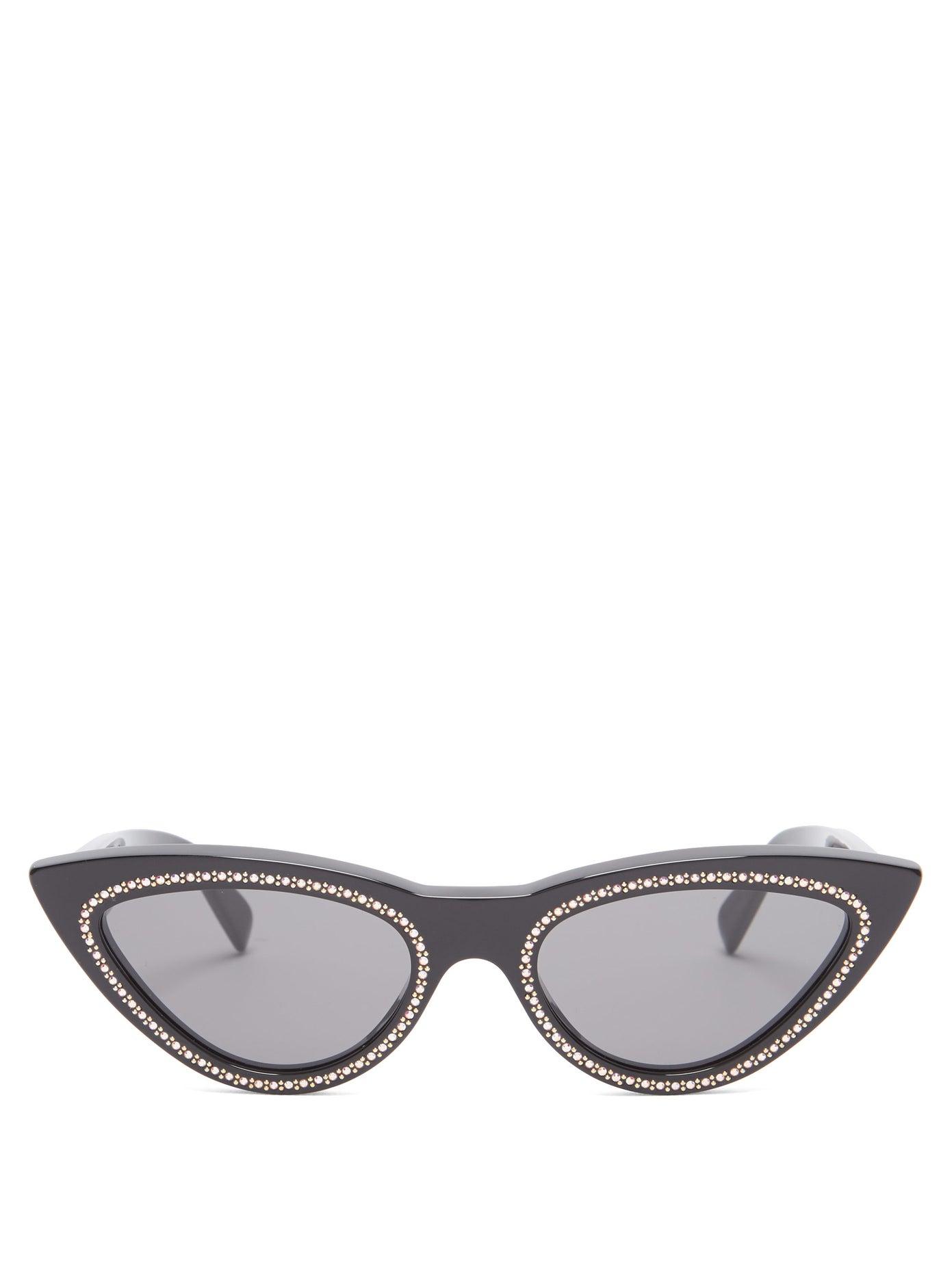 Celine — Crystal-embellished Cat-eye Sunglasses