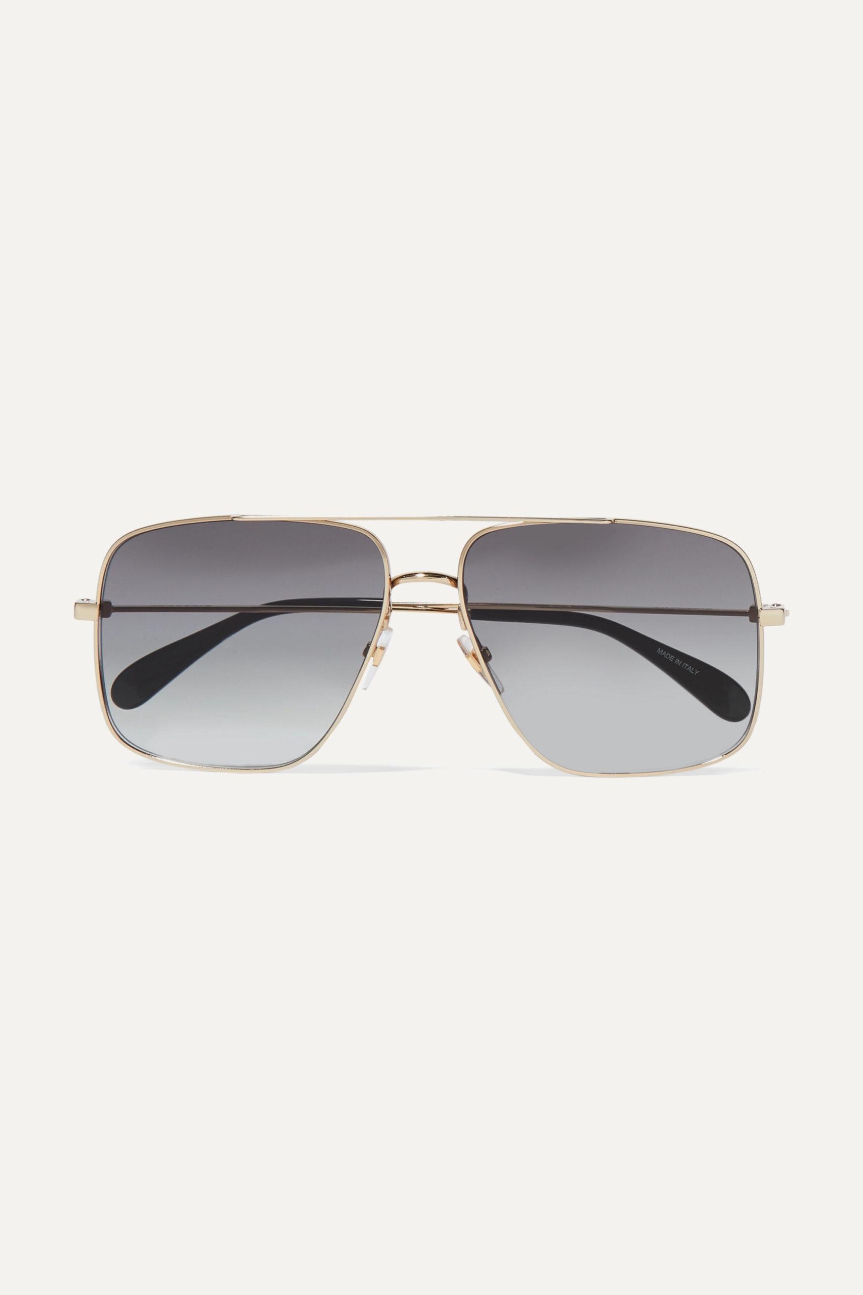 Givenchy — Oversized Aviator-style Gold-tone Sunglasses