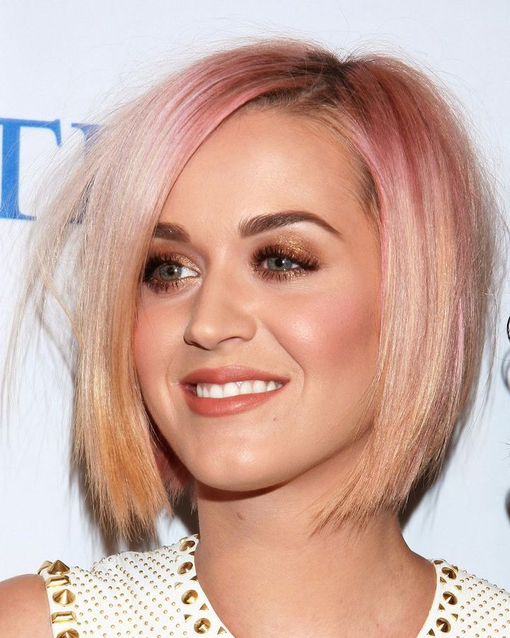 Katy Perry Rose Gold Hair