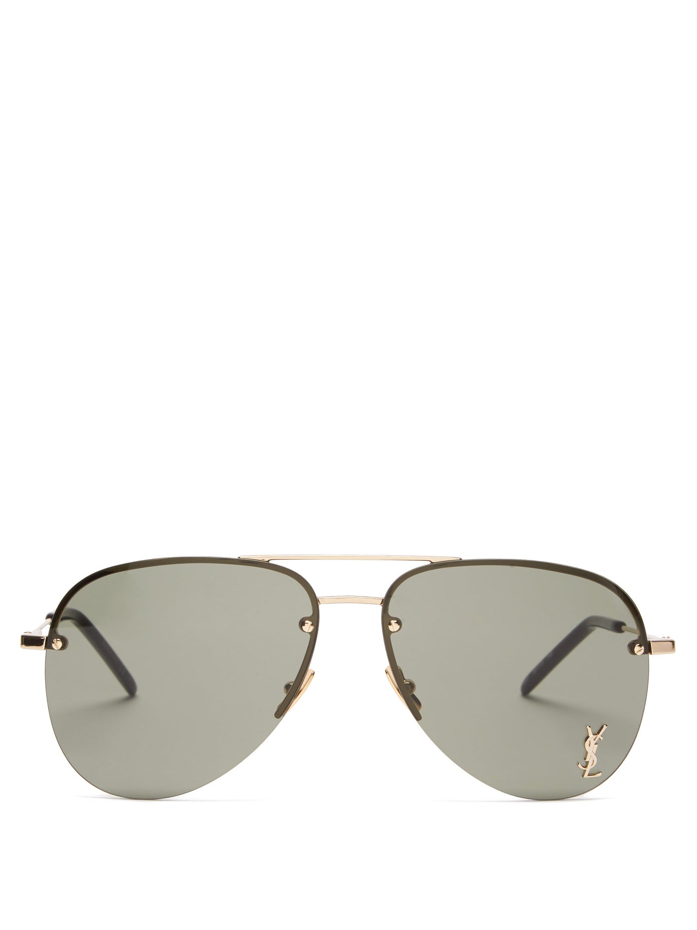Saint Laurent — Aviator Metal Sunglasses