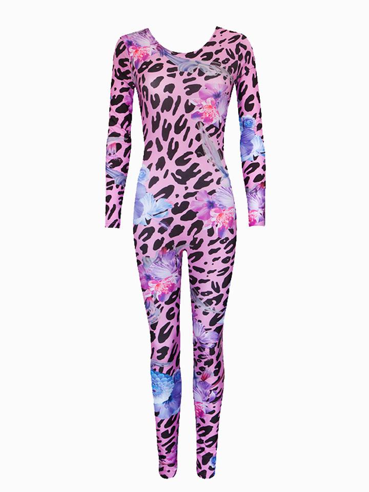 Ekat Floral Leopard Catsuit