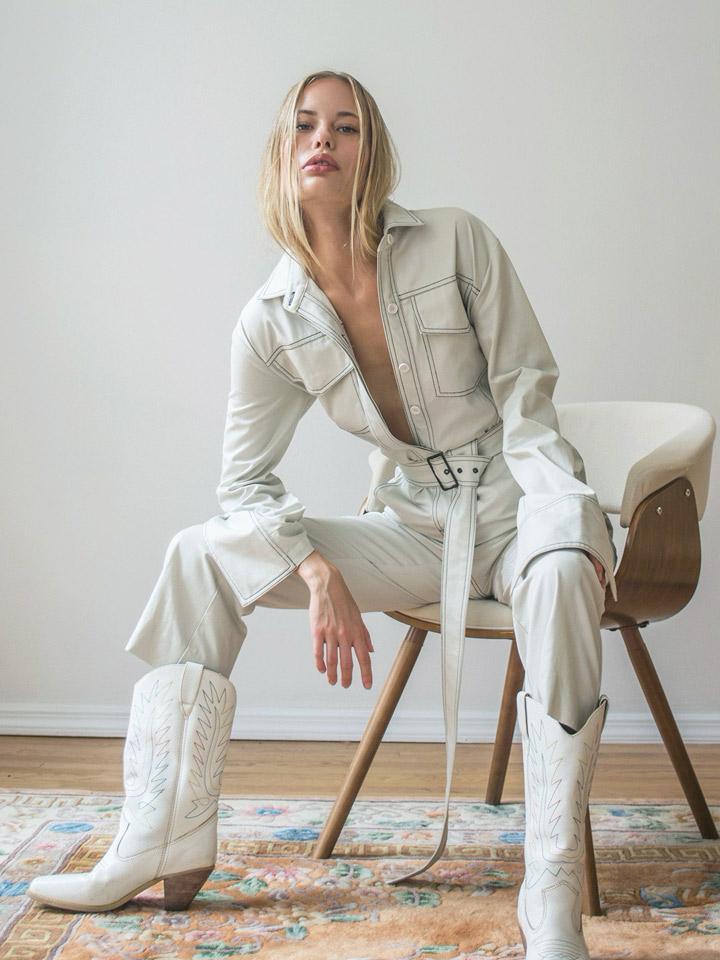 Orseund Iris Off-White Workwear Jumpsuit