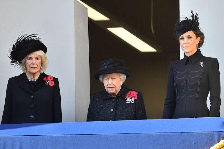 Queen Elizabeth, Kate Middleton, Camilla Duchess of Cornwall